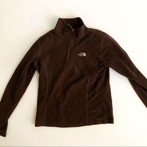 Brown Northface girls fleece jacket